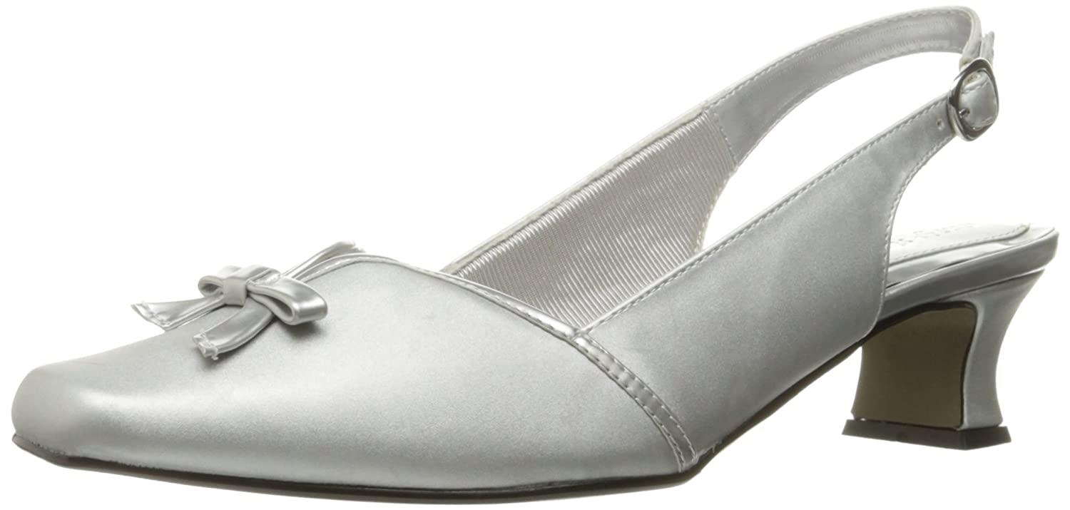 Easy Street Women's Mercury Wedge Pump B003VY5XO0 10 B(M) US|Silver