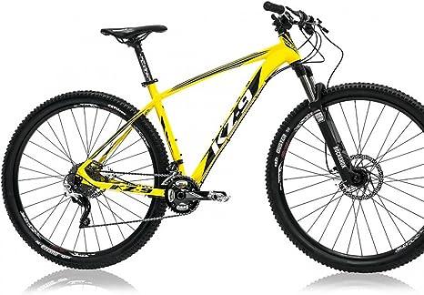 Monty KZ9 - Bicicleta de montaña, Color Negro/Amarillo, 17