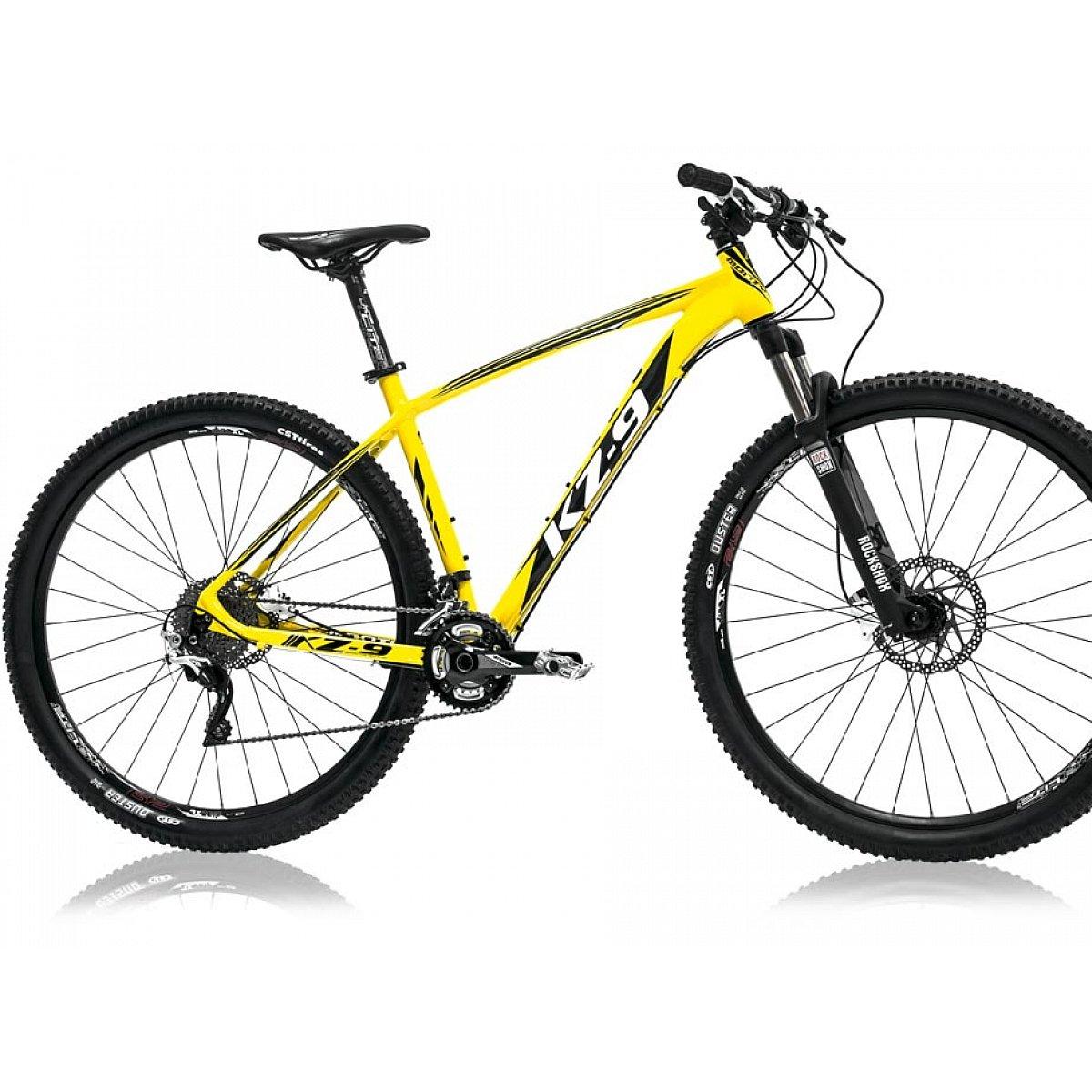 Monty KZ9 - Bicicleta de montaña, Color Negro/Amarillo, 19