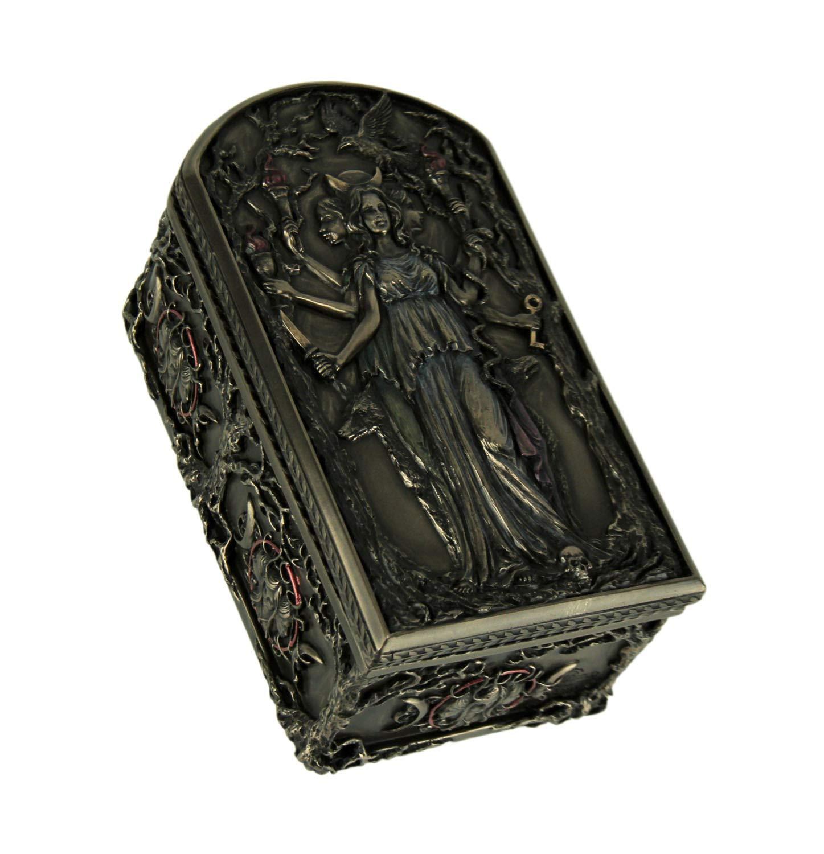 Veronese Design Hecate Triple Goddess Decorative Trinket Box