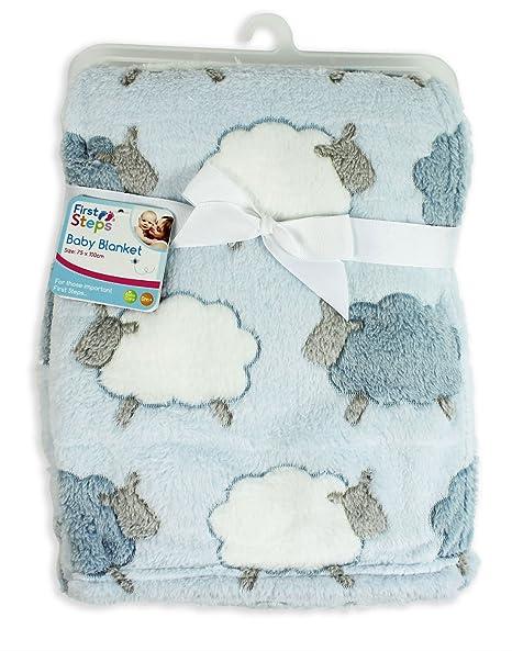 Teddy E/&A Baby Girl Boy Unisex Soft Fleece Printed Baby Blanket 0 Month