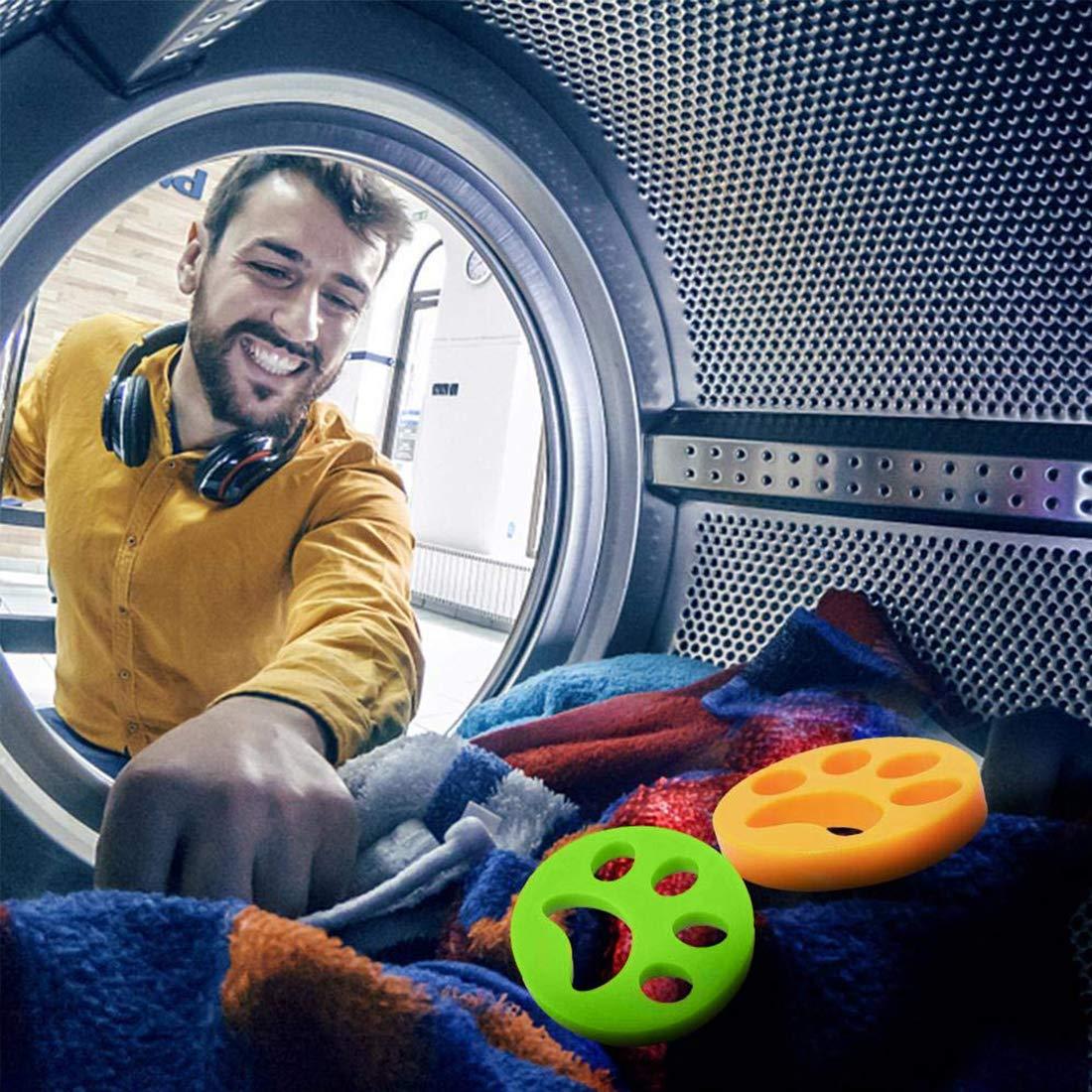 lavadora Kungfu Mall 3 piezas de removedor de pelo de mascotas lavadora pelusa flotante para mascotas con 10 piezas de pinzas de ropa atrapador de pelo de mascotas flotante atrapador de pelusas