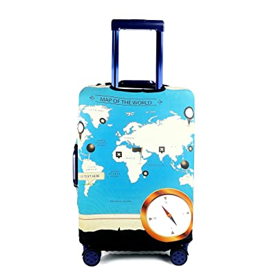 Amazon togedi luggage protector creative world map design togedi luggage protector creative world map design suitcase protective anti scratch luggage cover s gumiabroncs Gallery