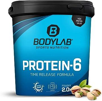 Protein-6 de Bodylab24 2 kg   Polvo de proteína multicomponente con 6 fuentes de proteína   Pistacho