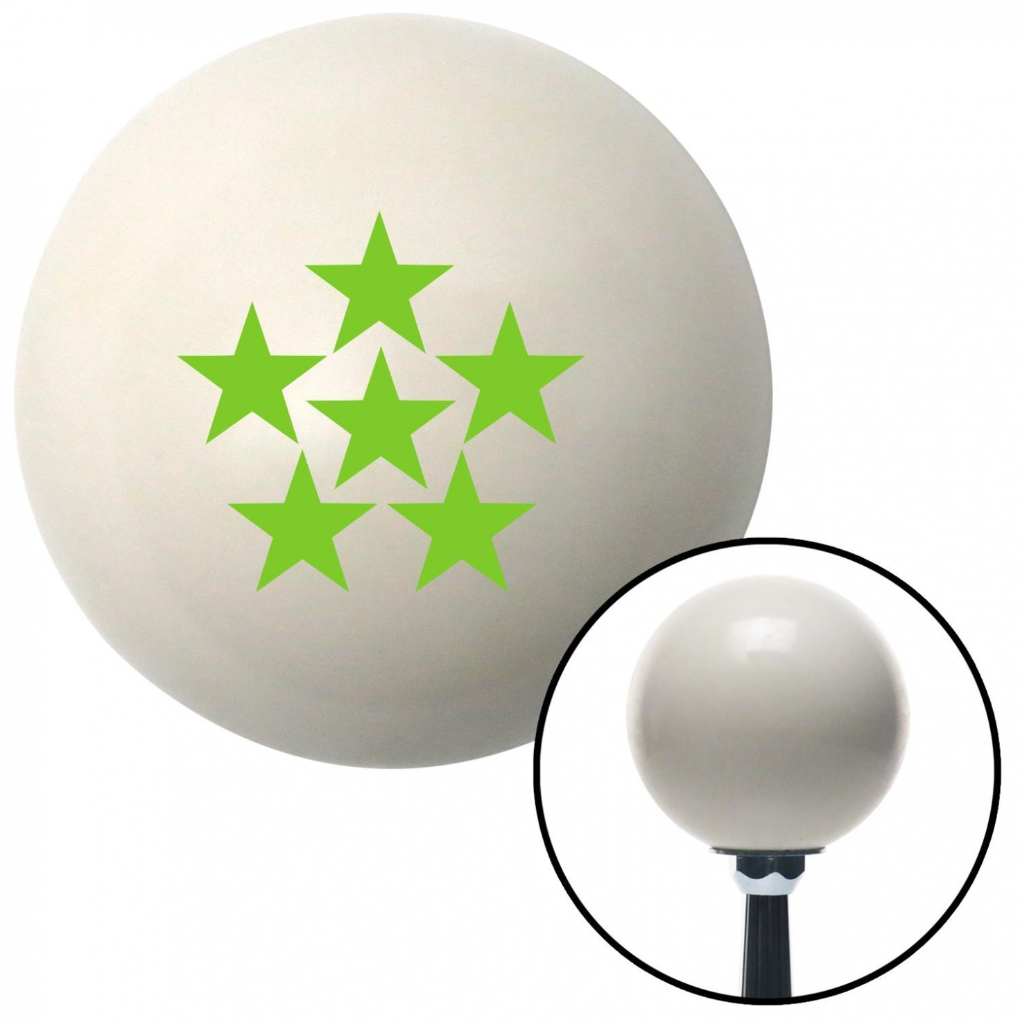 Green 6 Star Formation American Shifter 41035 Ivory Shift Knob with 16mm x 1.5 Insert