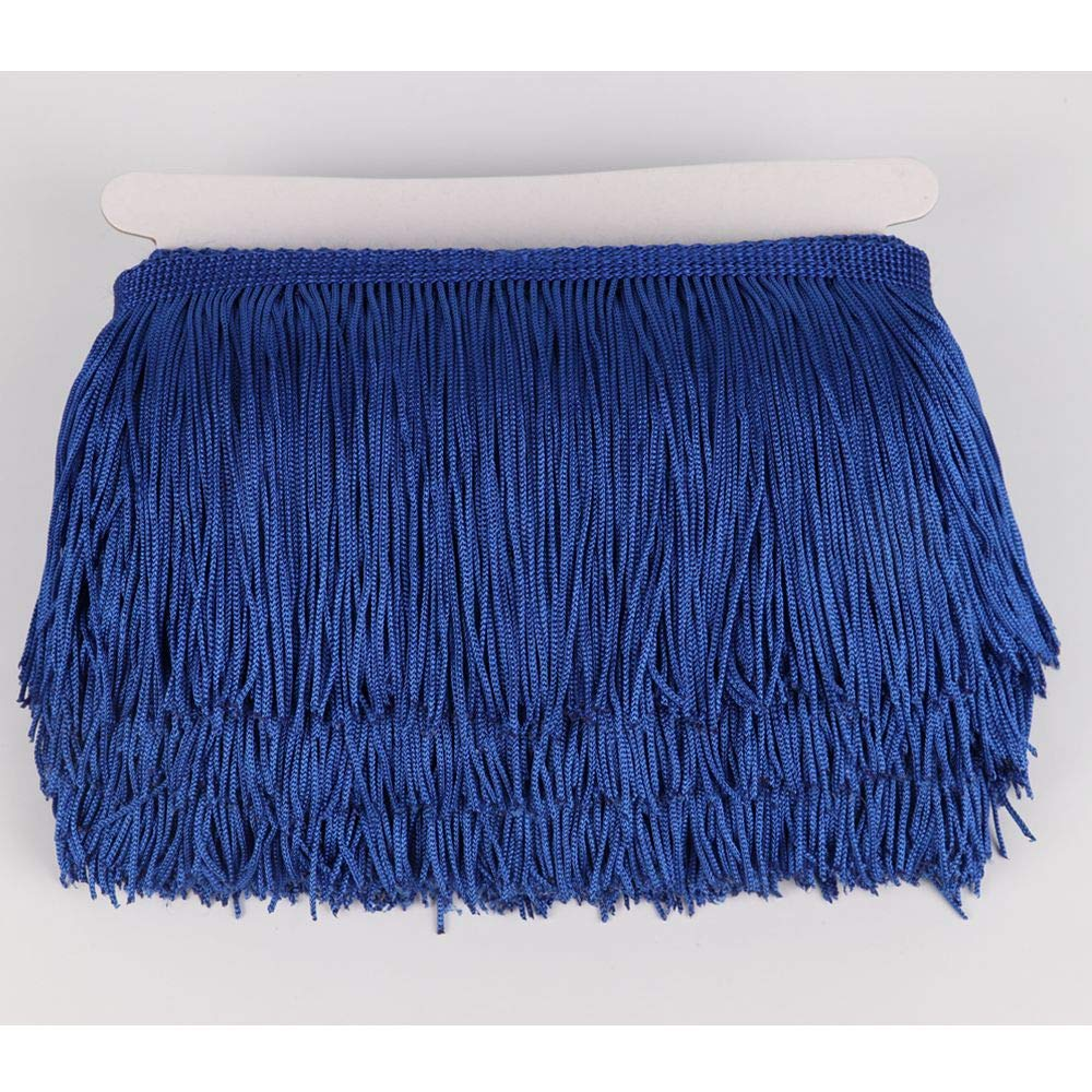 Heartwish268 Fringe Trim Lace Polyerter Fibre Tassel 4inch Wide 10 Yards Long for Clothes Accessories Latin Wedding Dress DIY Lamp Shade Decoration Black Golden Yellow