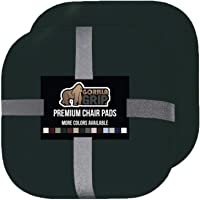 Gorilla Grip Original Premium Memory Foam Chair Cushions, 2 Pack, 16x16 Inch, Thick Comfortable Seat Cushion Pad, Large Size, Slip Resistant, Durable Soft Pads for Office, Kitchen Chairs, Deep Green