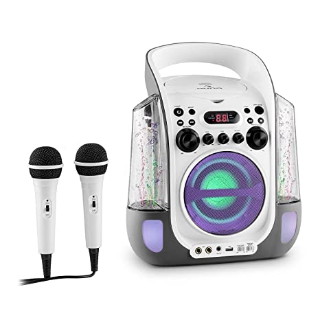 auna Kara Liquida • Kinder Karaoke Anlage • Karaoke Player • Karaoke Set • 2 x dynamisches Mikrofon • CD+G-Player • USB • MP3