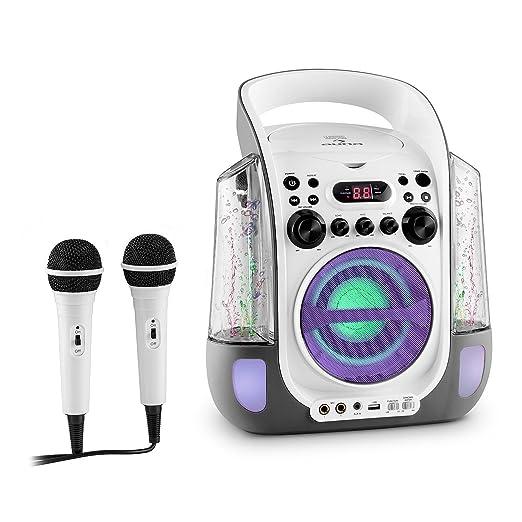 65 opinioni per auna Kara Liquida Impianto Karaoke con effetti luce e d'acqua, lettore CD e 2