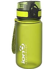 Ion8 Leak Proof BPA Free, Botella de Agua, sin BPS, a pueba de Fugas, Verde (Frosted Green), 350 ML