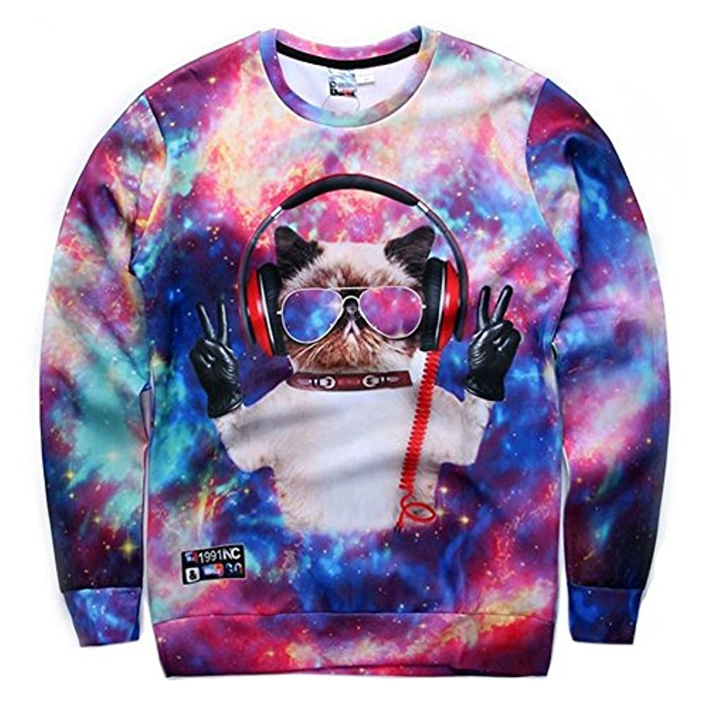 Chiclook Cool SWEATER レディース B01M13Y5CS X-Large|Dj Cat Dj Cat XLarge
