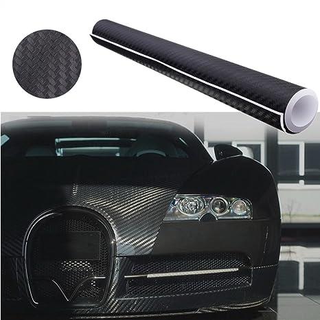 Audew Autofolie Carbon Folie Aufkleber 3D DIY Film Vinyle 12