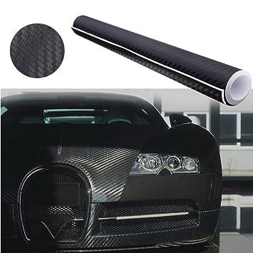 Audew Pegatina Adhesiva Fibra de Carbono 3D Stickers Prueba de Agua para Coche Moto Móvil 152X30CM Negro: Amazon.es: Coche y moto
