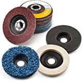 11PCS 4.5 Inch Flap Discs & Grinding Polishing Discs Set by LotFancy - 40 60 80 120 Grit Assorted Sanding Grinding…