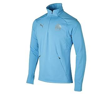 62238bf6f7450 Puma Training Top Om Fleece Bleu: Amazon.fr: Sports et Loisirs
