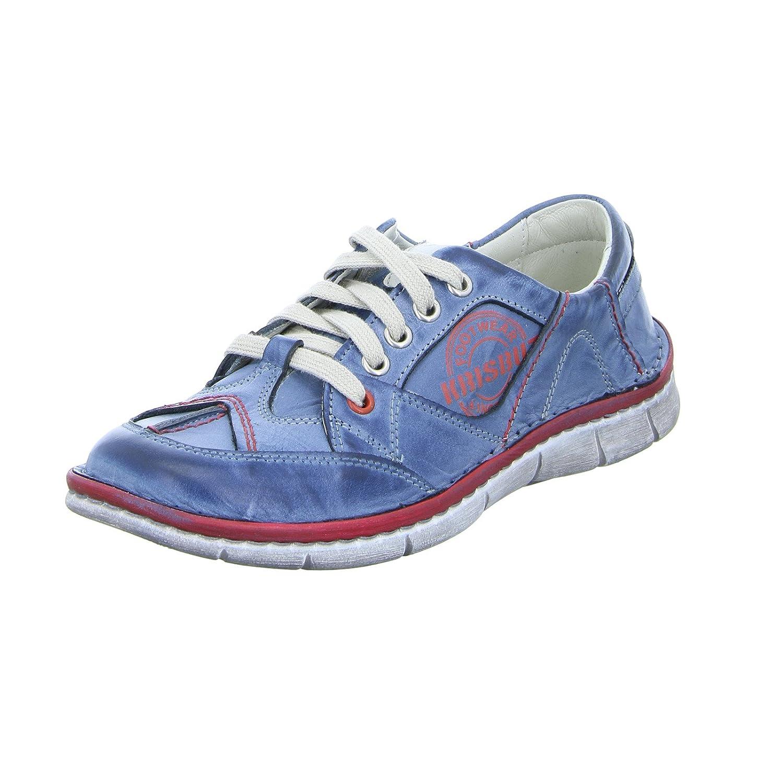 KRISBUT 2113-1 - Zapatos de cordones para mujer 37 EU|Azul