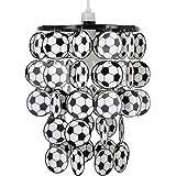 Pantalla de Lámpara Infantil de Techo MiniSun con Balones de Fútbol en Blanco