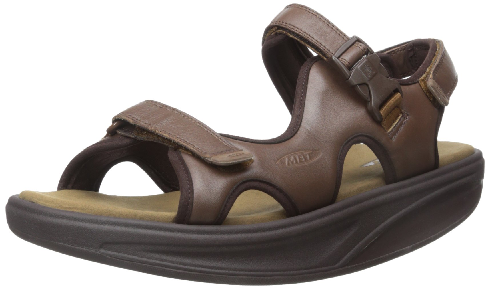 MBT Men's Kisumu 3S M Sandal, Chocolate Brown, 45 M EU/11-11.5 M US