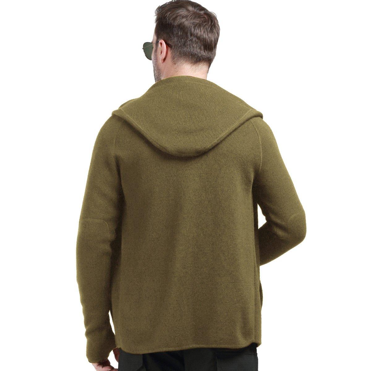 de lana t/áctica con forro polar y cremallera completa para hombre Chaqueta con capucha FREE SOLDIER
