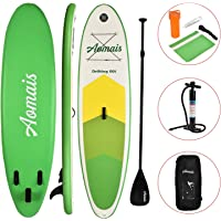 Uenjoy Inflatable Stand Up Paddle Board Non-Slip Deck Adjustable Paddle Backpack,Pump, Repairing kit, Type: Aomais