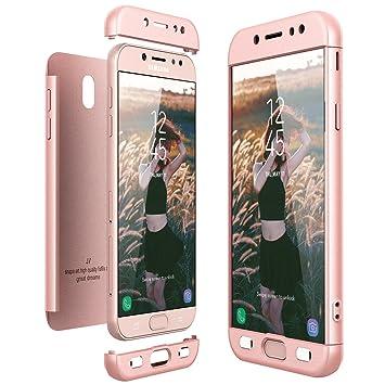 CE-Link Funda Samsung Galaxy J7 2017, Carcasa Fundas para Samsung Galaxy J7 2017, 3 en 1 Desmontable Ultra-Delgado Anti-Arañazos Case Protectora - Oro ...