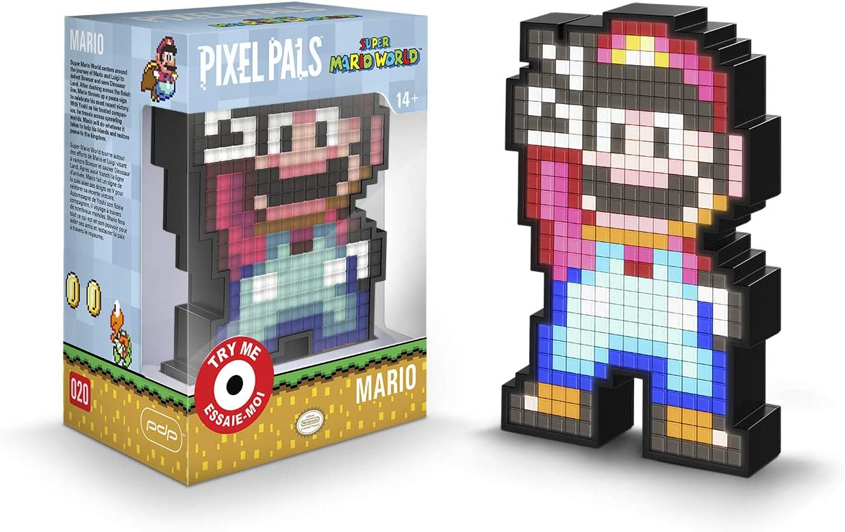 Amazon.com: PDP Pixel Pals Nintendo Super Mario World Mario ...