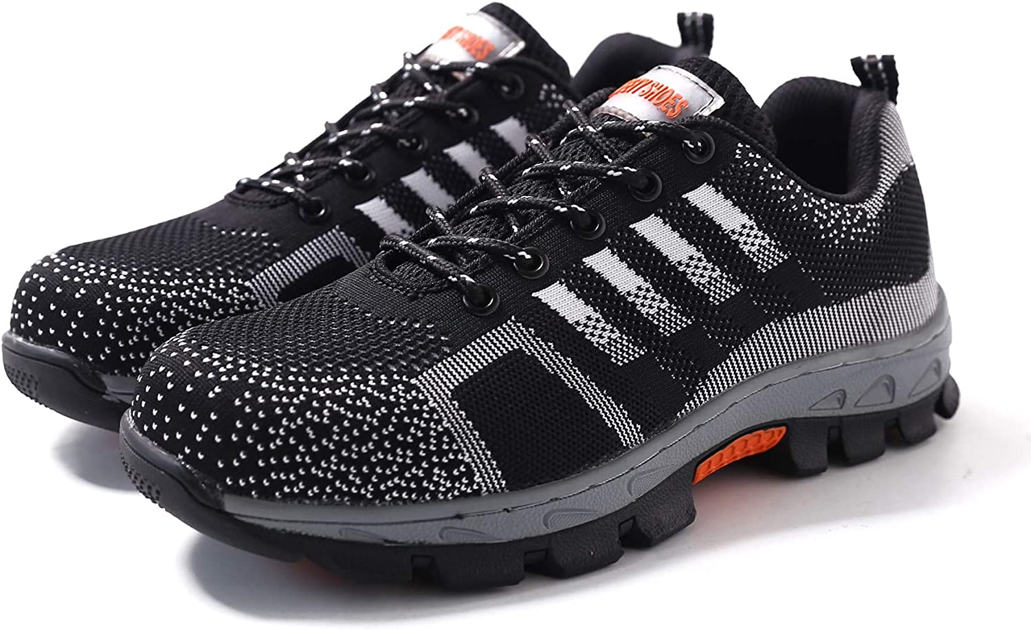 Men Safety Shoes Breathable Fashion Steel Toe Work Boots Hiking Climbing Shoe