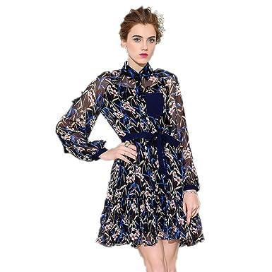 Cotyledon 2018 New Fashion Half See Through Dresses Long Sleeve