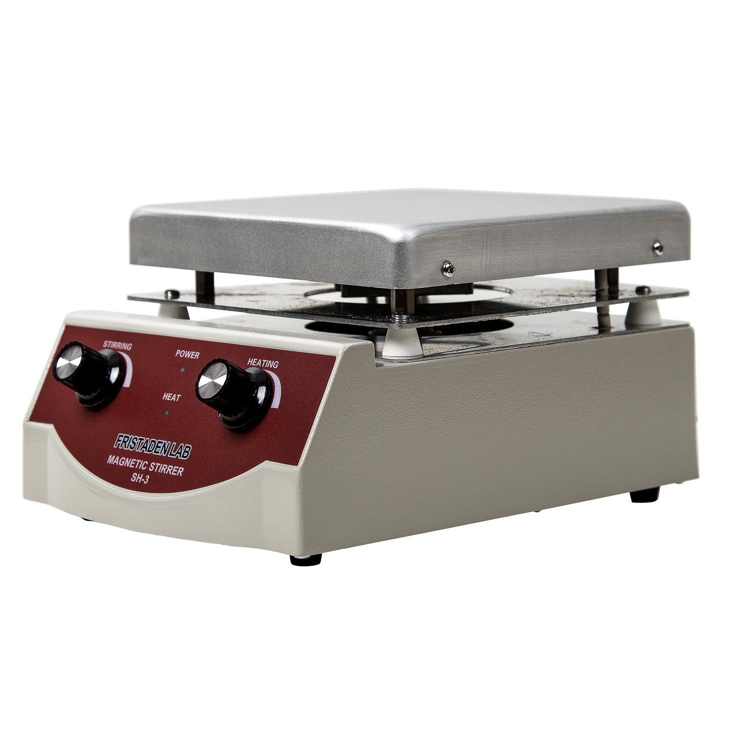 Fristaden Lab SH-3 Magnetic Stirrer Hot Plate, Stir Plate, Magnetic Mixer Dual Controls for Heating and Stirring 3,000mL, 100-1600rpm, 500W, 350°C by Fristaden Lab (Image #1)