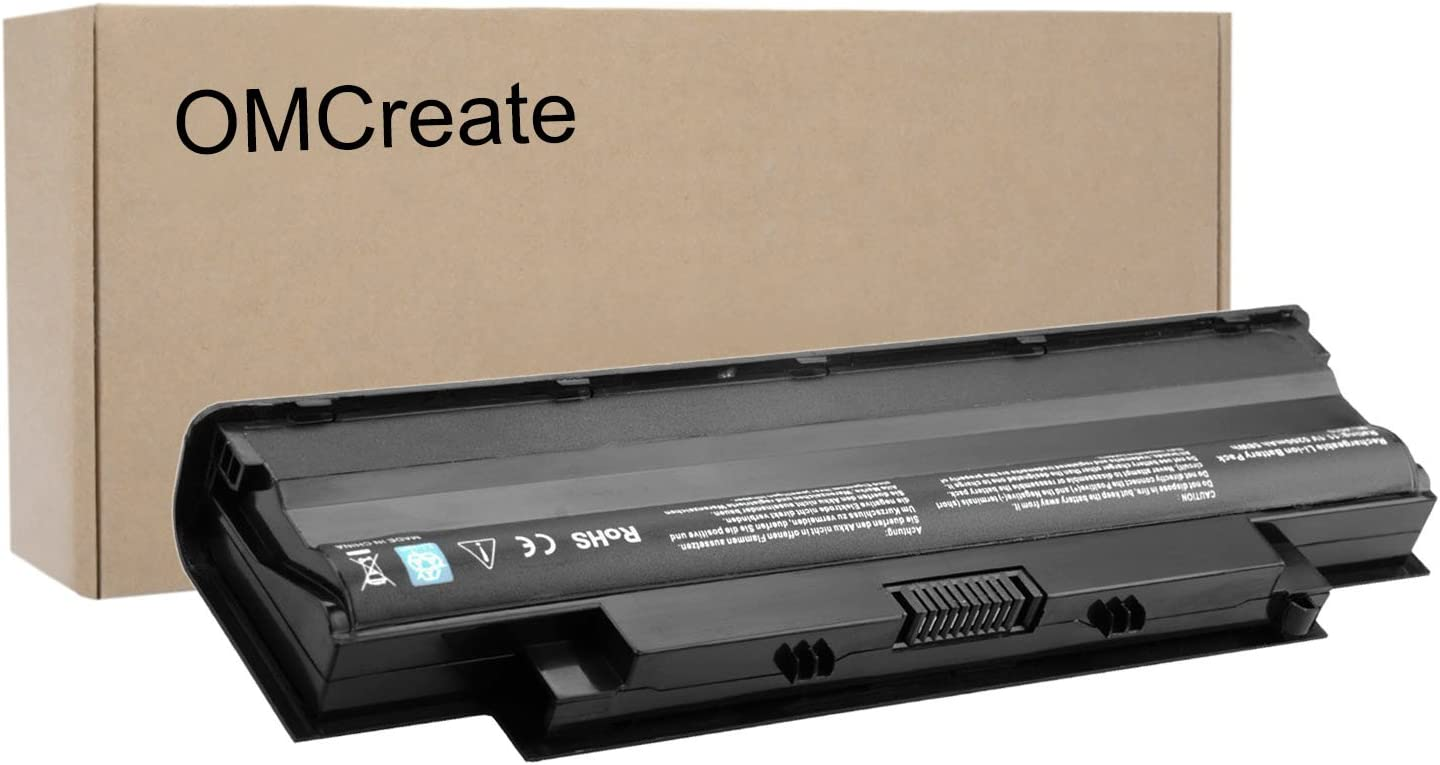 OMCreate Battery Compatible with Dell J1KND, Inspiron N5010 N5030 N5040 N5050 N7010 N7110 N4010 N4110 M5030 M5010 M5110 3520, Vostro 3450 3550 3750-12 Months Warranty [Li-ion 6-Cell]