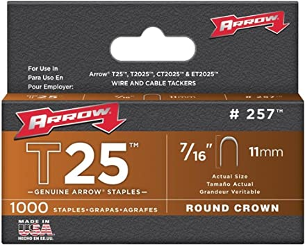 ARROW T25716 T25 agrafes 11 mm Box 5000 7//16in
