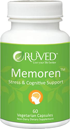 RUVED Memoren. Unbeatable Brain, Memory Focus Support. All-Natural Herbal Supplement. 60 Count