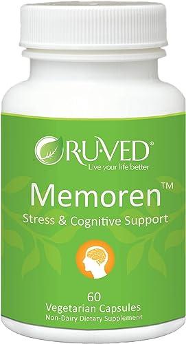 RUVED Memoren. Unbeatable Brain, Memory Focus Support. All-Natural Herbal Supplement. 60 Count
