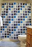 "DII Oceanique 5-Piece Bathroom Starter Set, Includes 72x72"" Shower Curtain, 12 Shower Hooks, 1 Soap Dish, 1 Cup, 1 Lotion Dispenser, Mosaic Tile"