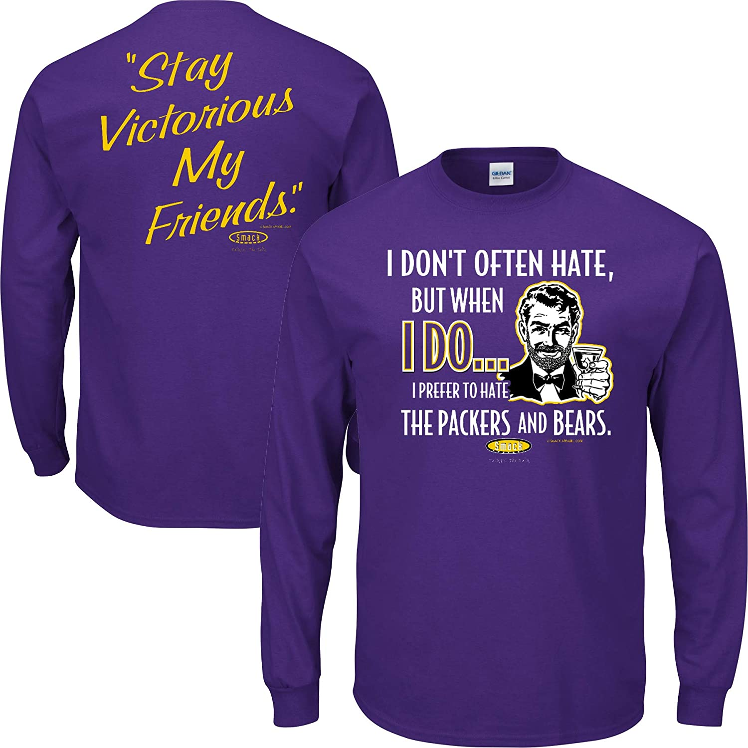 Purple and Gold Till Im Dead and Cold Sm-5X Purple T-Shirt Smack Apparel Minnesota Football Fans