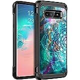 BENTOBEN Samsung S10 Plus Case, S10 Plus Case, 2 in 1 Hybrid Anti-Slip Soft Rubber Bumper Hard Cover Luminous Noctilucent Fau