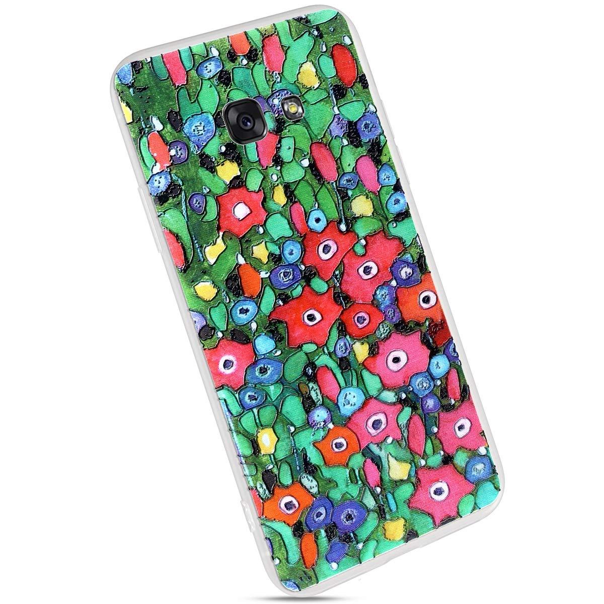MoreChioce kompatibel mit Samsung Galaxy A5 2017 H/ülle,kompatibel mit Galaxy A5 2017 Transparent H/ülle,Kreativ Muster M/ädchen Sto/ßfest Handyh/ülle Kristall TPU Flexible Bumper