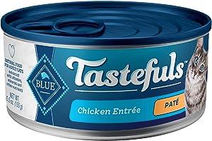 Blue Buffalo Tastefuls Natural Pate Wet Cat Food, Chicken Entrée 5.5-oz cans (Pack of 24)