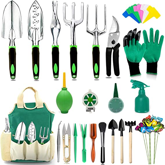 Including Storage Tote Bag Gardening Gifts for Women Men MECHREVO 10-Piece Garden Tool Set Lightweight Aluminum Gardening Hand Tools with Soft-Grip Handle