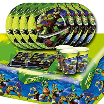 Teenage Mutant Ninja Turtles Complete Party Supplies Kit For 16 by Party Showroom