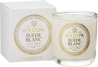 product image for Voluspa Classic Boxed Votive Candle, Suede Blanc, 3 Ounce