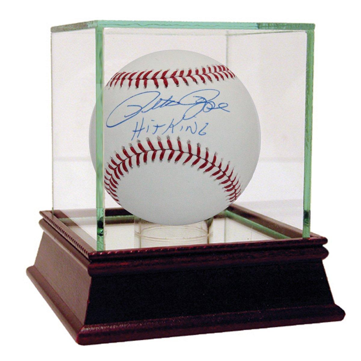MLB Cincinnati Reds Pete Rose Signed Baseball with Hit King Inscription Steiner Sports ROSEBAS000007
