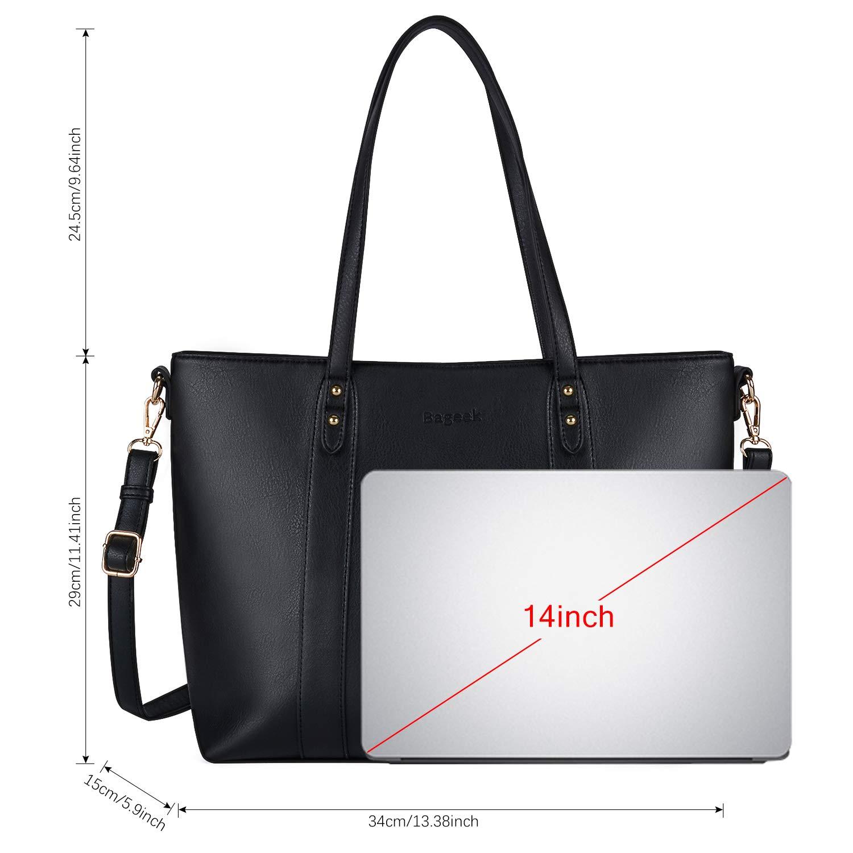 10f039fcfadc8 Bageek Handtasche Damen Shopper Handtasche Schwarz Damentaschen Groß  Designer Taschen PU Leder Handtasche Muttertag Geschenk  Amazon.de  Koffer