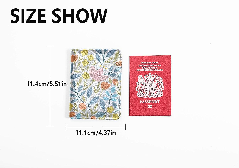 Luxury Passport Case Fashion Beautiful Countryside Flowers Passport Cover Girl Multi Purpose Print Luxury Passport Cover Travel Wallets For Unisex 5.51x4.37 Inch