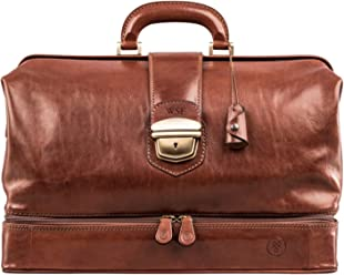 dcf529e553 Maxwell Scott® Personalised Classic Handcrafted Italian Tan Full Grain  Leather Doctor s Bags (The DonniniL