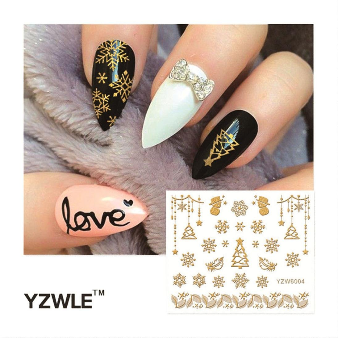 durable modeling Nail Stencil, Hunzed Women DIY Stamping Decals ...