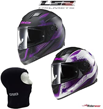 LS2 FF320 Stream Lux Ladies Casco Moto para Mujer Full Face casco, color blanco rosa