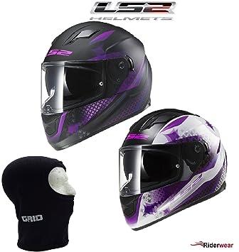 LS2 FF320 Stream Lux Ladies Casco Moto para Mujer Full Face casco, color blanco rosa