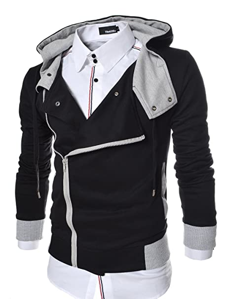 TheLees - Chaqueta - para hombre , color 7 negro , talla large(eu medium