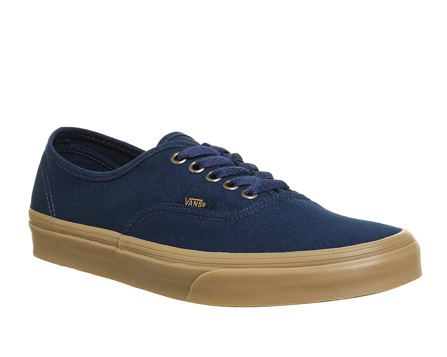 Vans VEE3NVY Unisex Authentic Shoes B01MRVDZ2O 8 D(M) US|Dress Blue / Light Gum